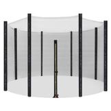 SONGMICS Rete di Ricambio da 305 cm per Trampolino, Rete di Sicurezza per 8 Pali Diritti, Recinzione Rotonda a Maglie, STN10FT - 1