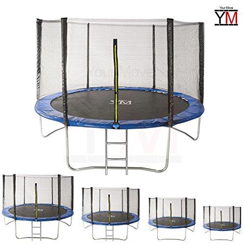 YM Trampolino Elastico da Giardino Tappeto Elastico Esterno Sport Rete YOURMOVE (Diametro 251 cm) - 1