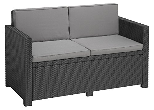 Allibert Lounge Victoria Sofa, Grafite/Cool Grigio, 129 x 63 x 77 cm, 233822 - 1