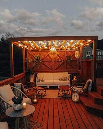 Catene luminose Esterno,[LED Versione] OxyLED G40 9metri 25+1 lampadine luci all'aperto Della Corda del Giardino del Patio, Luci Decorative del Corda,Luci di Natale del Terrazzo del Giardino - 3