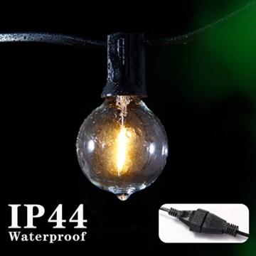 Catene luminose Esterno,[LED Versione] OxyLED G40 9metri 25+1 lampadine luci all'aperto Della Corda del Giardino del Patio, Luci Decorative del Corda,Luci di Natale del Terrazzo del Giardino - 5