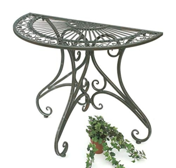 DanDiBo - Tavolino da parete semicircolare, in metallo, 90 cm, 130434 - 1