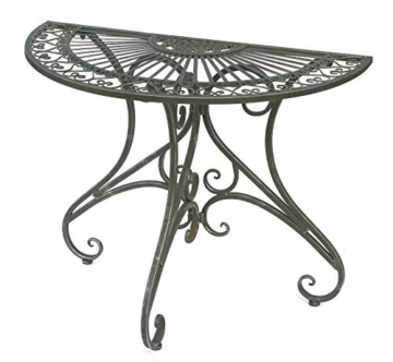 DanDiBo - Tavolino da parete semicircolare, in metallo, 90 cm, 130434 - 2