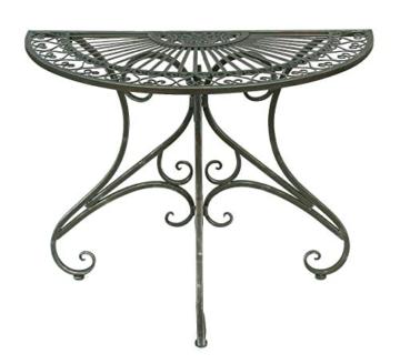 DanDiBo - Tavolino da parete semicircolare, in metallo, 90 cm, 130434 - 3