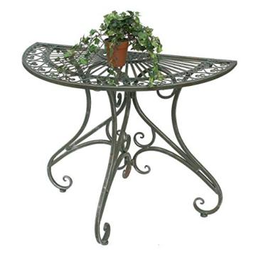 DanDiBo - Tavolino da parete semicircolare, in metallo, 90 cm, 130434 - 5