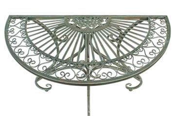 DanDiBo - Tavolino da parete semicircolare, in metallo, 90 cm, 130434 - 6