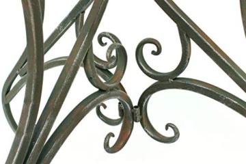 DanDiBo - Tavolino da parete semicircolare, in metallo, 90 cm, 130434 - 7