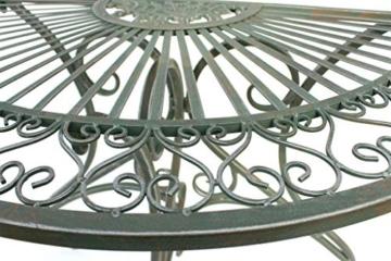 DanDiBo - Tavolino da parete semicircolare, in metallo, 90 cm, 130434 - 8