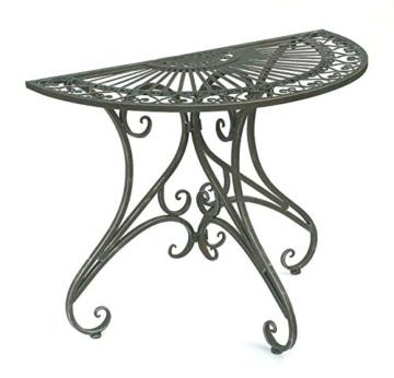 DanDiBo - Tavolino da parete semicircolare, in metallo, 90 cm, 130434 - 9