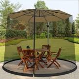 DDT, ombrellone da giardino con zanzariera regolabile in altezza e diametro, tenda a rete portatile, ombrellone convertitore, trasforma il tuo ombrellone in un gazebo (9 – 10 m) - 1