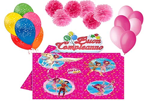 DECORATA PARTY Set Addobbi e decorazioni compleanno fai da te personaggi assortiti (Mia and Me) - 1