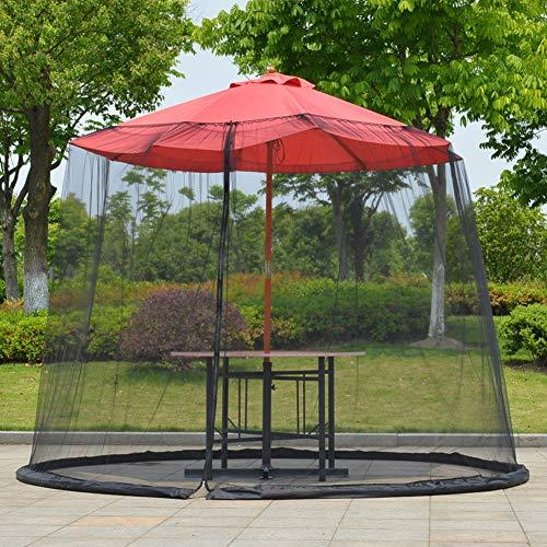 EMVANV - Rete per ombrellone da Giardino, da Tavolo, con zanzariera, Copertura a Rete con Cerniera, per Patio e Tavolo da Giardino - 1