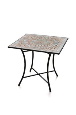 Galileo Casa Cipro Tavolo Quadrato Mosaico 83x83x75, Multicolor - 1
