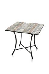 Galileo Casa Rodi Tavolo Quadrato Mosaico 83x83x75, Nero - 1