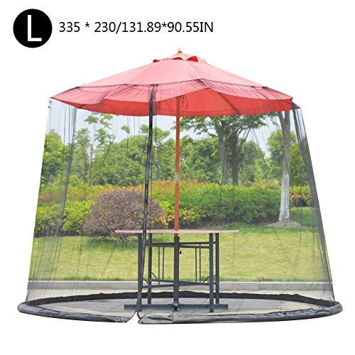 MezoJaoie Schermo per ombrellone, schermo per zanzariera per zanzariera per patio, schermo per ombrellone con porta con cerniera e rete a maglie per patio esterno - 1
