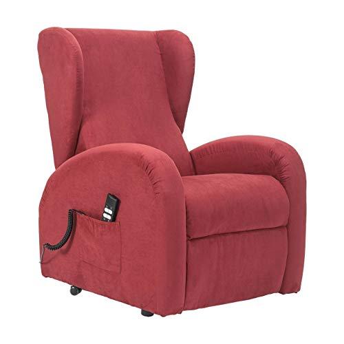 POLTRONE ITALIA - Poltrona Lift Relax Anziani micromolle, reclinazione Letto DETRAIBILE 19% Personalizzabile Accessori e Consegna Domicilio - Poltrona-Irene-1M-CS-MIRED Rosso Microfibra - 1