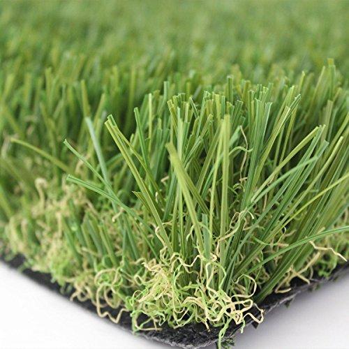 Prato sintetico 30mm manto erboso finta erba giardino tappeto 20 MISURE DISPONIBILI (Metri 1x6) - 1
