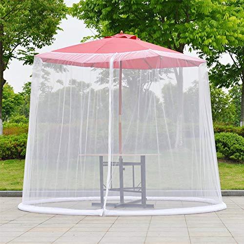 Schermo per Zanzariera Paravento per Ombrellone da Esterno Parasole per Zanzariera Parasol per Il Patio Patio Ombrello Deck Furniture Zippered Mesh Enclosure Cover - 1