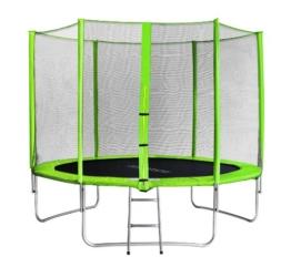 SixBros. SixJump 3,05 M Trampolino per Il Giardino Verde - Scaletta - Rete di Sicurezza - Copertura Anti-Pioggia TG305/1695 - 1