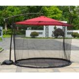 SKYLLPATION Cantilever Mosquito Net, Zanzariera per ombrelli, Ombrellone zanzariera di Bug Copertura Rete con Tubo dell'Acqua (118x91in) - 1