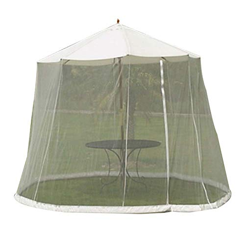SKYLLPATION Gazebo con Zanzariera, Outdoor Umbrella Table Screen, ombrellone convertitore di Trasformate Il Vostro ombrellone in Un Gazebo,300x230cm - 1