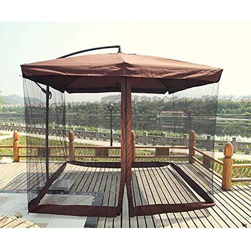 SKYLLPATION Outdoor Zanzariera per ombrelli - Gazebo da Giardino - Zanzariera per ombrelli -Ombrellone zanzariera di Bug Copertura Rete(106x106x98in) - 1