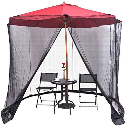 USB FAN Zanzariera per ombrellone, Schermo per ombrellone da Giardino Esterno Schermo per ombrellone, Trasforma L'Ombrellone in Un Gazebo con zanzariere, Molestie Anti-Insetto, Brolly da Giardino - 1