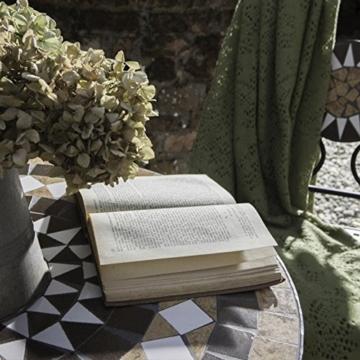 VERDELOOK Tavolo Set Mosaico in Metallo Verniciato per l'arredo del Giardino. Dimensioni 60x60 h73 cm - 3