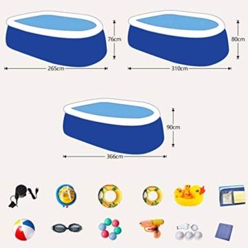 WARM ROOM Piscina, Piscina per Bambini per Adulti Piscina privata Ovale di Grandi Dimensioni, Protezione Esterna per L'Estate,310 * 200 * 80cm - 8