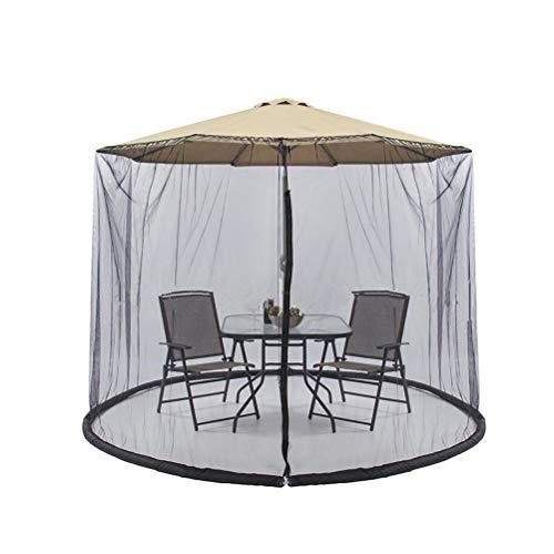 Yardwe 300x230CM Patio Umbrella Cover Zippered zanzariera schermo tavolo ombrellone da giardino mobili da esterno per esterno (nero) - 1