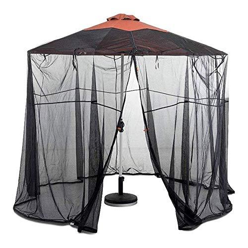 Zanzariere, campeggio all'aperto 10 / 11FT Ombrellone con schermo Ombrellone con zanzariere Tende da campeggio Rete esterna con tettoia a maglie a rete, utilizzata per chat party in giardino, Rete in - 1