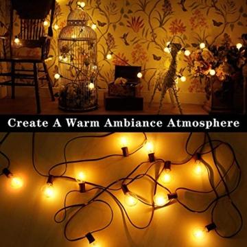 [50 LED Versione]16.6 Metri Catene Luminose Esterno,OxyLED G40 50+2 Lampadine Luci All'aperto Della Corda del Giardino del Patio, Luci Decorative del Corda,Luci di Natale del Terrazzo del Giardino - 5