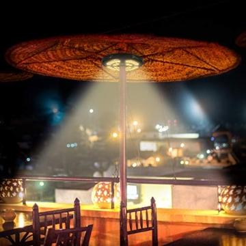 [Aggiornato] Lampada Ombrellone da Giardino Wireless Ricaricabile USB con 28 LED, 2 Modalità di Illuminazione, Durata: 18-54 ore, Luci per Ombrellone da Giardino Esterno Terrazzo Balcone (Luce Calda) - 6