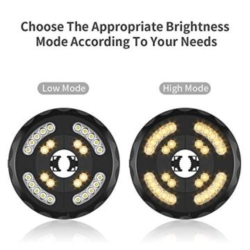 [Aggiornato] Lampada Ombrellone da Giardino Wireless Ricaricabile USB con 28 LED, 2 Modalità di Illuminazione, Durata: 18-54 ore, Luci per Ombrellone da Giardino Esterno Terrazzo Balcone (Luce Calda) - 7