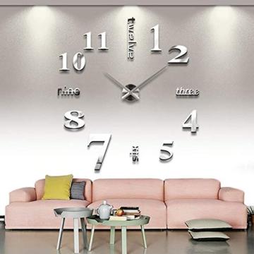 Auped Moderno Orologio da Parete Fai da Te, 3D Adesivo Orologio Parete Decorazione, Facile da Montare, Design Moderno, Usato per Decorare La Parete Vuota, Come casa, Ufficio, Hotel - 1