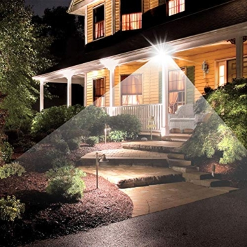 Bapro Faretto LED da Esterno 10W, Fari di sicurezza,Lampada Luce Potente Bianco Caldo (3000K) Faro Impermeabile IP65 per Giardino Cortile,[Classe di efficienza energetica A++ ] - 2