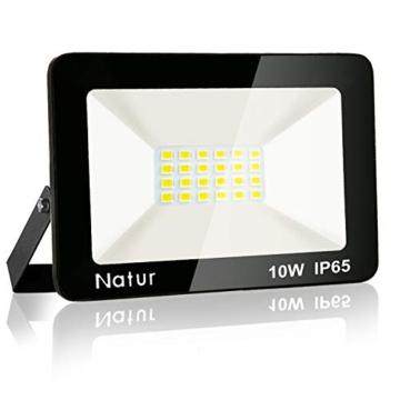 Bapro Faretto LED da Esterno 10W, Fari di sicurezza,Lampada Luce Potente Bianco Caldo (3000K) Faro Impermeabile IP65 per Giardino Cortile,[Classe di efficienza energetica A++ ] - 1