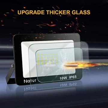 Bapro Faretto LED da Esterno 10W, Fari di sicurezza,Lampada Luce Potente Bianco Caldo (3000K) Faro Impermeabile IP65 per Giardino Cortile,[Classe di efficienza energetica A++ ] - 5