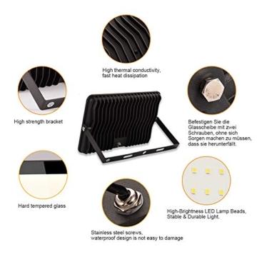 Bapro Faretto LED da Esterno 10W, Fari di sicurezza,Lampada Luce Potente Bianco Caldo (3000K) Faro Impermeabile IP65 per Giardino Cortile,[Classe di efficienza energetica A++ ] - 7
