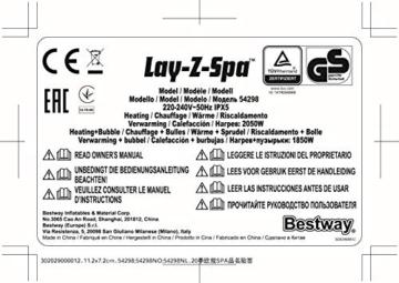Bestway 54189 | Lay-Z-Spa - AirJet Helsinki - 5/7 adulti - 27