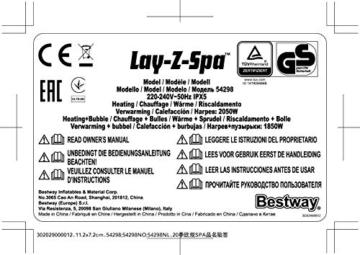 Bestway 54189 | Lay-Z-Spa - AirJet Helsinki - 5/7 adulti - 35