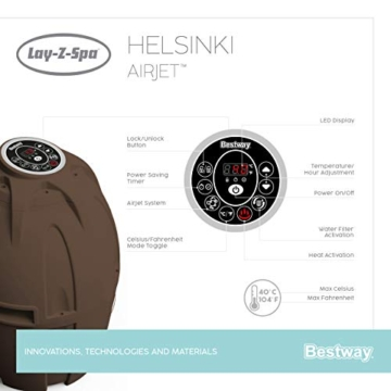 Bestway 54189 | Lay-Z-Spa - AirJet Helsinki - 5/7 adulti - 38