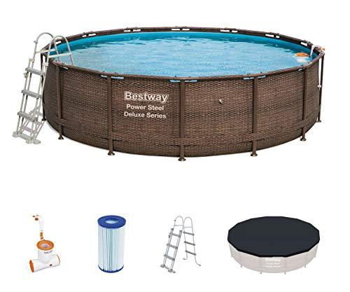 Bestway 56664 piscina fuori terra Piscina con bordi Piscina rotonda 13030 L Marrone - 1