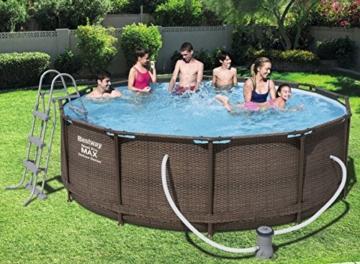 Bestway 56709 piscina fuori terra Piscina con bordi Piscina rotonda 9150 L Marrone - 3