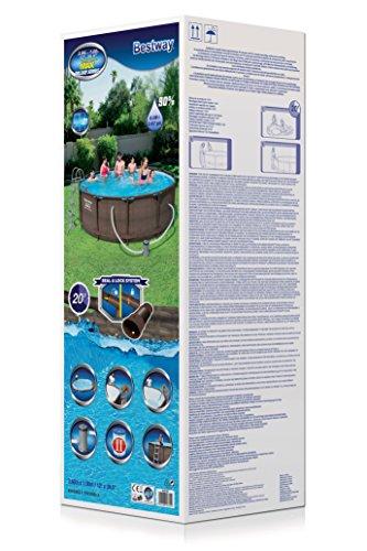Bestway 56709 piscina fuori terra Piscina con bordi Piscina rotonda 9150 L Marrone - 4