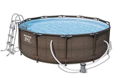 Bestway 56709 piscina fuori terra Piscina con bordi Piscina rotonda 9150 L Marrone - 1