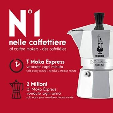 Bialetti Moka Express Caffettiera in Alluminio, Argento, 1 Tazza - 5