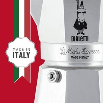 Bialetti Moka Express Caffettiera in Alluminio, Argento, 1 Tazza - 7