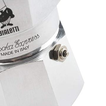 Bialetti Moka Express Caffettiera in Alluminio, Argento, 1 Tazza - 8