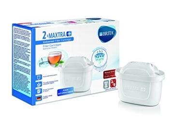 Brita Filtri Maxtra+ Pack 2 Cartucce Filtranti per Caraffe, 2 Mesi di Acqua Filtrata, Plastica/Carboni/Resine, Plastica, Bianco, 2 Unità - 1